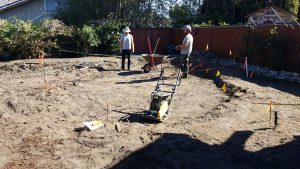 Excavateing for a patio in San Luis Obispo, CA