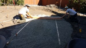 Spreading base for patio in San Luis Obispo, CA