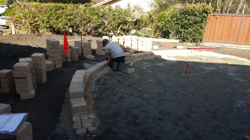 Building A Patio Sitting Wall In San Luis Obispo, CA