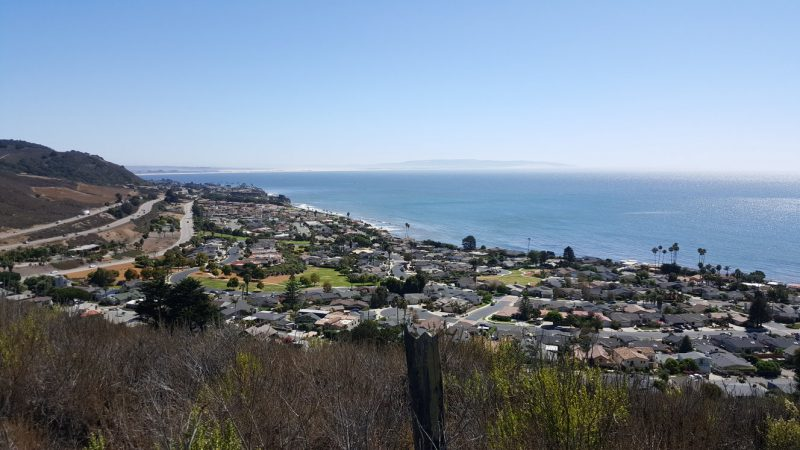 View over Pismo beach and Shell Beach